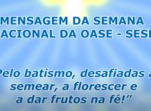 Mensagem  da Semana Nacional da OASE - Sínodo Espírito Santo a Belém