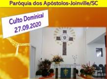 Culto Dominical com Libras - 27/09/2020 - Paróquia dos Apóstolos-Joinville/SC