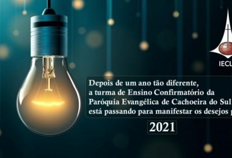 Recado do Ensino Confirmatório da Paróquia Evangélica de Cachoeira do Sul para 2021
