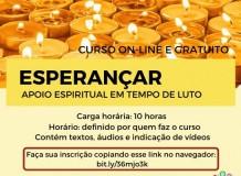 Inscrições abertas para o curso Esperançar: apoio espiritual em tempo de luto