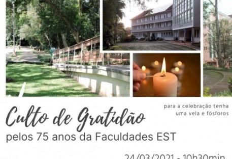 Culto de Gratidão pelos 75 Anos da Faculdades EST
