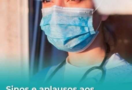 Sinos e Aplausos aos Profissionais da Saúde