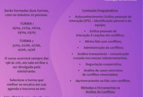 Secretárias e secretários participam de curso de gestão e resolução de conflitos