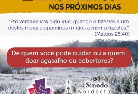 Sínodo Nordeste Gaúcho incentiva ação diaconal para ajudar famílias e pessoas necessitadas nesta época de frio intenso