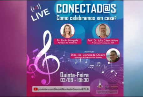 Live Sinodal Conectad@s: Como celebramos em casa?