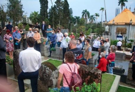 Blumenau Centro abre o cemitério histórico mais antigo da cidade para visitação turística