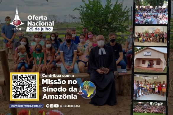 Oferte aqui - Missão no Sínodo da Amazônia